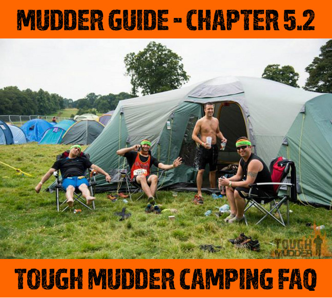 Camping at Tough Mudder