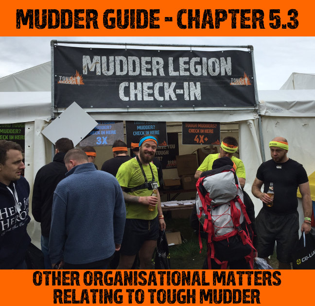 Tough Mudder Organisational Questions