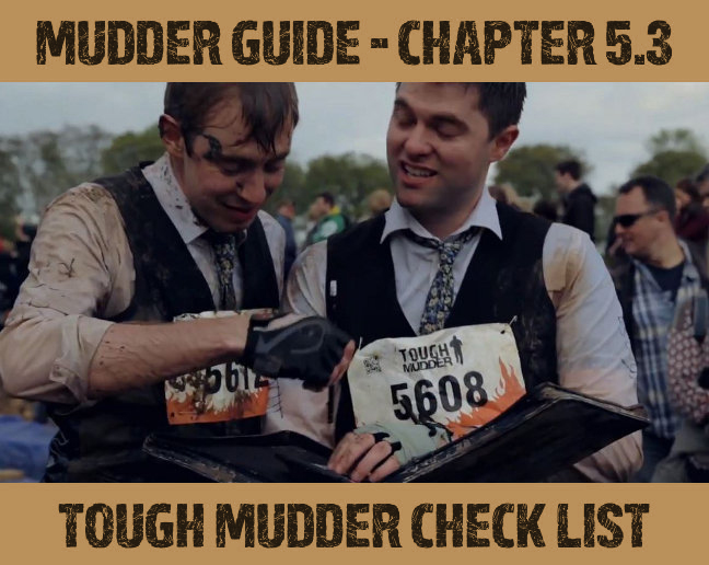 Tough Mudder Check List