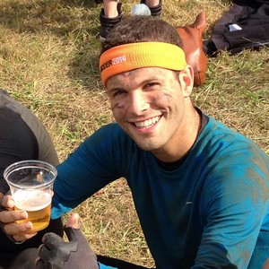 Basti in action with his After Mudder Beer :)