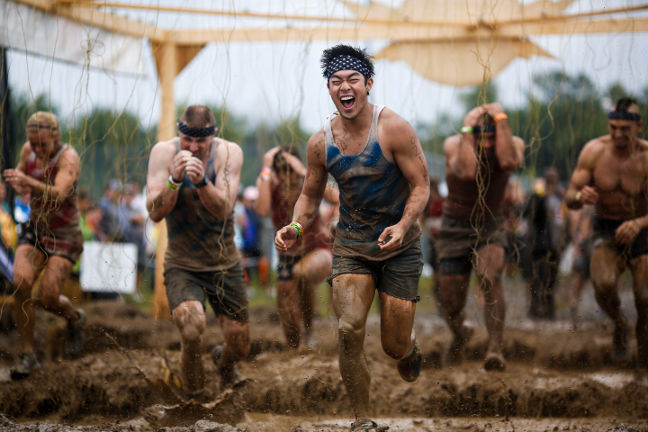 Tough Mudder: Before getting the finisher headband, you have to survive the electro shocks at ELECTROSHOCK THERAPY