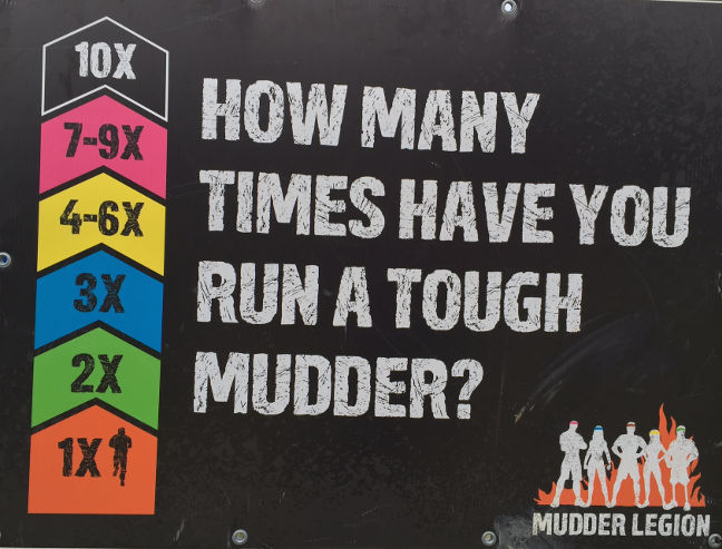 Tough Mudder headbands in different colours
